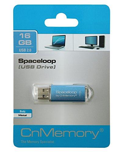 CnMemory 16 GB USB Stick USB 2.0 Spaceloop Blau