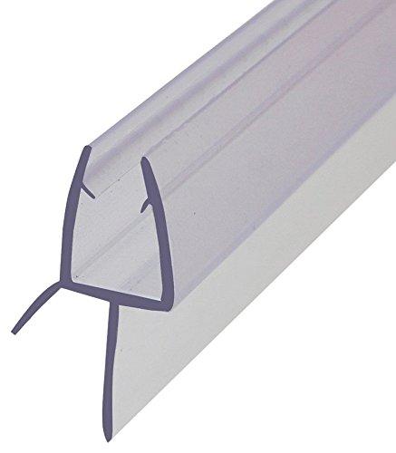 FURNICA 80cm Repuesto baño ducha Protector de puerta sello para 6/7-8mm vidrio espesor, Brecha 13,4mm UK03