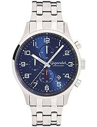 Gigandet Herren-Armbanduhr Red Touch Quarz Uhr Chronograph Analog Edelstahlarmband Blau Silber G51-005