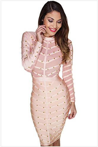 meinice-rosa-studded-mesh-bandage-dress-pink-small