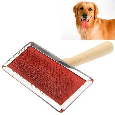 jdon-pet, Weiche Kurve Benötigte manuelle Borsten pflegen Reinigungsbürste mit Holzgriff für Haustier, große Größe