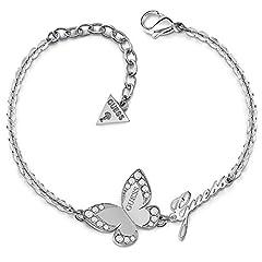 Idea Regalo - Bracciale Indovinate Amore Farfalla chirurgico in acciaio inossidabile placcato rodio logo UBB78049-S [AC1119]