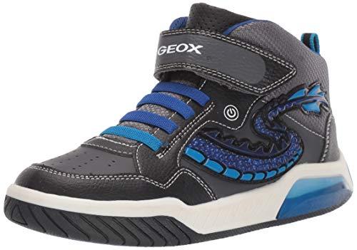 Geox Jungen J INEK Boy E Hohe Sneaker, Schwarz (Black/Royal C0245), 31 EU