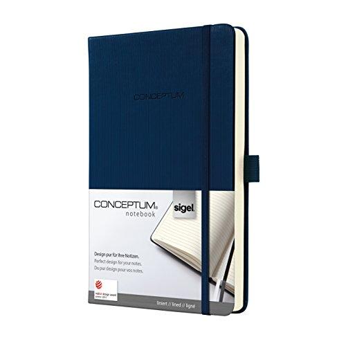 Preisvergleich Produktbild Sigel CO577 Notizbuch, ca. A5, liniert, Hardcover, dunkelblau, CONCEPTUM - viele Modelle