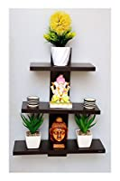 Product :-- This Floating shelf comes with a unique design which will make your empty wall to centre stage.It gives ample space for displaying books, photos, CD's and figures. Once the product is assembled the structure remains stable and can be plac...