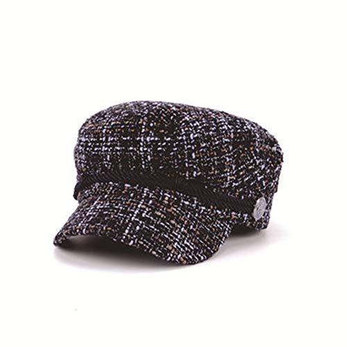 Maler-Hut-Weinlese-Barett-Hanf-Hut-weibliches schwarzes Goldsamt-Achteck-Hut Hut (Farbe : Braun) (Kostüme Weibliche Gangster)
