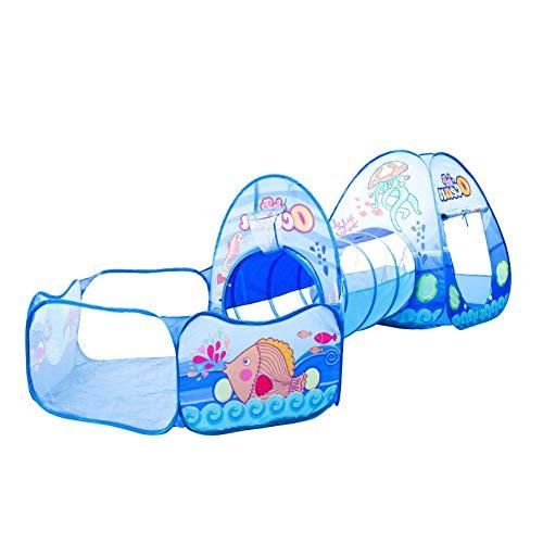 Children 's Play Tent dibujos animados de 3en 1Tent Baby Crawling túnel Play House Ocean Ball Pool Niños tienda Wigwam de parte/Casa De Juguete/de
