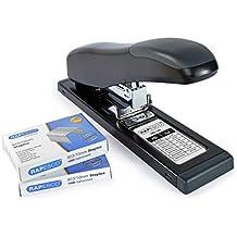 Rapesco HD-100 - Grapadora de gruesos, 100 hojas de capacidad mas 2000 grapas 923/10, negra