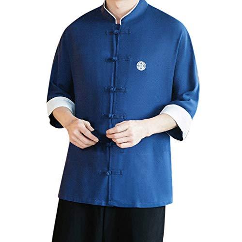 Vovotrade Uomo Cappotto Kimono Mens Vintage Cloak Cotton Lino Blends Cardigan Giacca Cappotto Corto Aderente