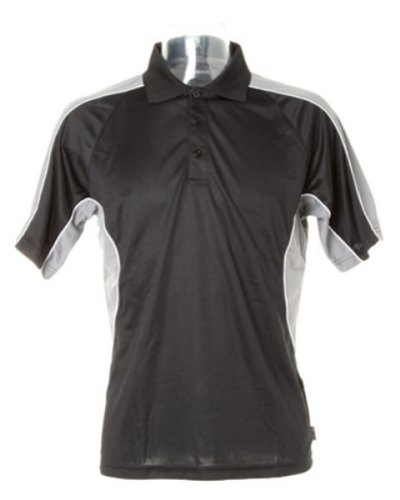 Gamegear Cooltex Active Polo Shirt Schwarz - Black/Grey