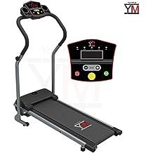 YM - Cinta de correr eléctrica plegable con sensor cardíaco 500 W (1 500 W / 2,5 HP de pico)