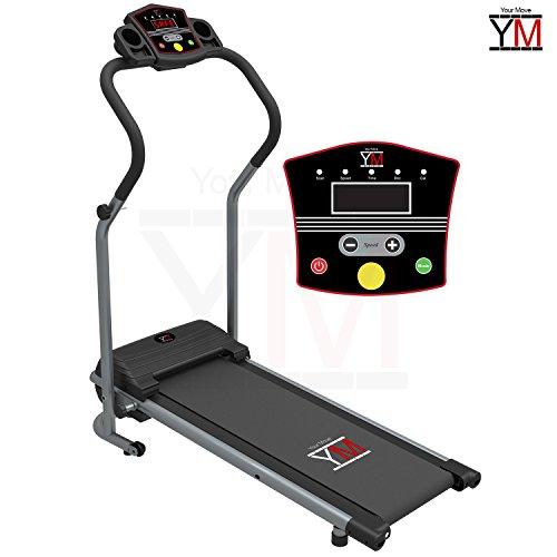YM Laufband elektrisch, zusammenklappbar, Cardiosensor, 500W (1500 W / 2,5 hp Spitzenleistung)