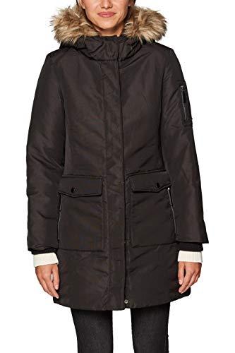 Esprit 098ee1g006, Manteau Femme, Noir (Black 001), Large