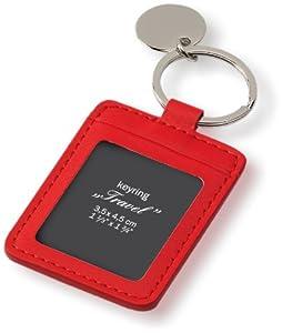 Schlüsselanhänger - Llavero para foto (3,5 x 4,5 cm), color rojo de Schlüsselanhänger