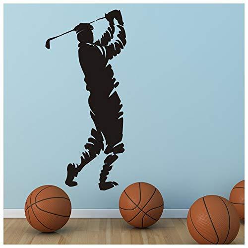 azutura Golfer Swing Spieler-Turnier Golf Wandtattos Gym Sport Dekor Art Decals verfügbar in 5 Größen und 25 Farben X-Groß Leder Braun -