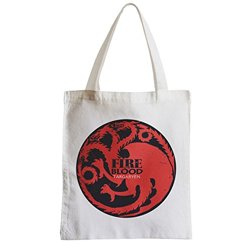 Grand Sac Shopping Plage Etudiant Game Of Thrones House Targaryen Fire and Blood