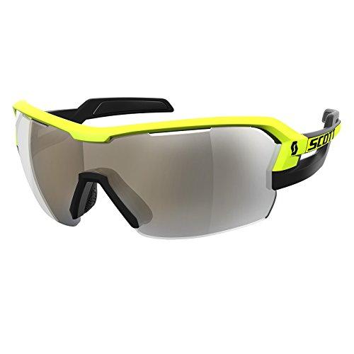 Scott Spur Fahrrad Wechselscheiben Brille schwarz/gelb/goldfarben chrome amplifier (Schmutz Bike-helme Mädchen)