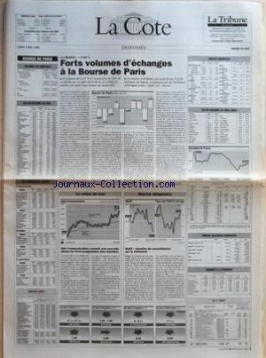 COTE (LA) du 03/05/1993 - BOURSE DE PARI...