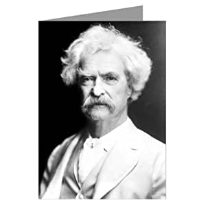 Single Mark Twain American Author and Humorist, pictured here in 1907 Greeting Card