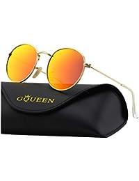 0fb4f48ba5 GQUEEN Espejo Redondo Vintage gafas de sol polarizadas con protección UV400  MFP7