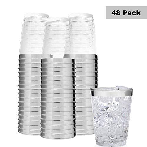 nststoffbecher - 300 ml / 0.3l Glasklar Plastikbecher, Wiederverwendbare Trinkbecher Party, Camping, Hochzeiten, Strand, täglichen Gebrauch - Hartplastik Becher Spülmaschinenfest ()