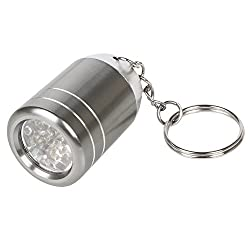 Led Mini Torch Keyring 6 Bright Led Lights In Random Colour By Trixes