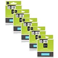 """Paquet: 5x Dymo D1 40913 S0720680 Noir sur Blanc Taille: 9mm/3/8""""(Largeur) x 7m/23'(Longueur)  Imprimante compatible: (""""Ctrl + F"""" Trouver le modèle de votre imprimante) ► Dymo Mobile Étiqueteuse ►Dymo Labelwriter 400 Duo 450 Duo Étiqueteuse ►Dymo La..."""