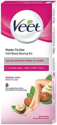 Veet Full Body Waxing Kit for Normal Skin, 20 strips
