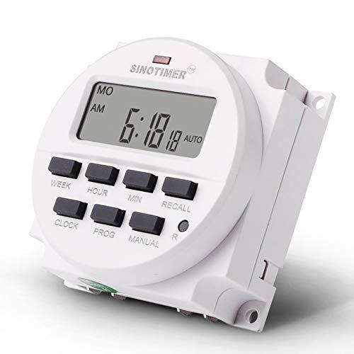 SINOTIMER TM618N-6V 6V Programmierbarer Zeitschalter mit Countdown-Funktion -