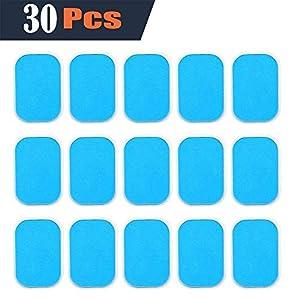 EMS Gel Pad, Abs elektrischer Muskelstimulation Training Gear Massage Gerät Ersatz Gel Tabelle Zubehör 30 Gel Blatt für Gel-Pad (2 Stück/Beutel, 15Beutels/Schachtel)