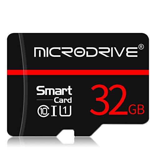 JYL Hochgeschwindigkeits-Micro-SD-Karte 32 GB SDHC/SDXC TF-Karte 4 GB 8 GB 16 GB 32 GB 64 GB 128 GB microsd-Karte Flash-USB-Speicherkarte SD-Adapter (schwarz),B