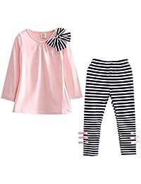 Free Fisher Kleinkind 2tlg Bekleidungsset gestreifte T-Shirt + Leggings