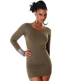 Fashion paris & pull en tricot pour femme avec laçage dans le dos taille unique (convient du 34 au 40)