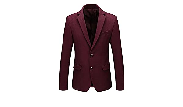 65b2dff2e878d Blazer Uomo Lana Tweed Giacche da Abito Casual Slim Fit Smart Business  Formale Cappotto Mens Blazer Jacket  Amazon.it  Abbigliamento