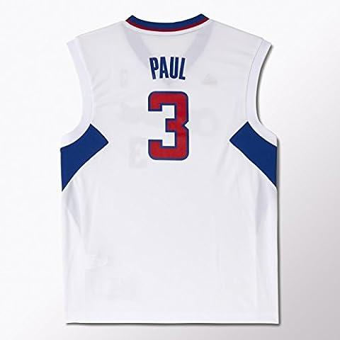 Adidas-Camiseta Nba Clippers Blanca #Paul 2Xs Talla 3