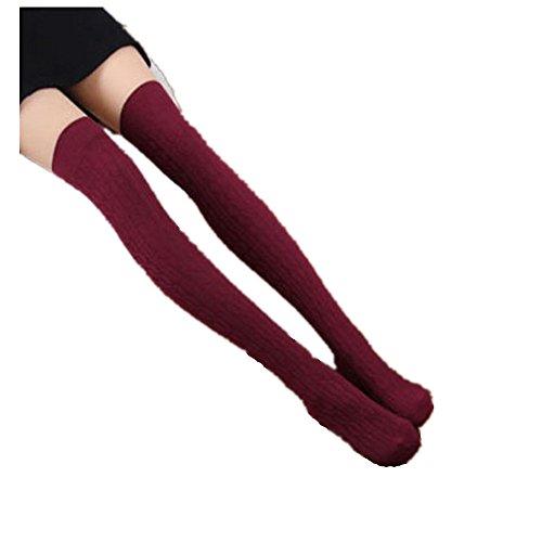 Calze Familizo Donne in maglia sopra il ginocchio Coscia Calze