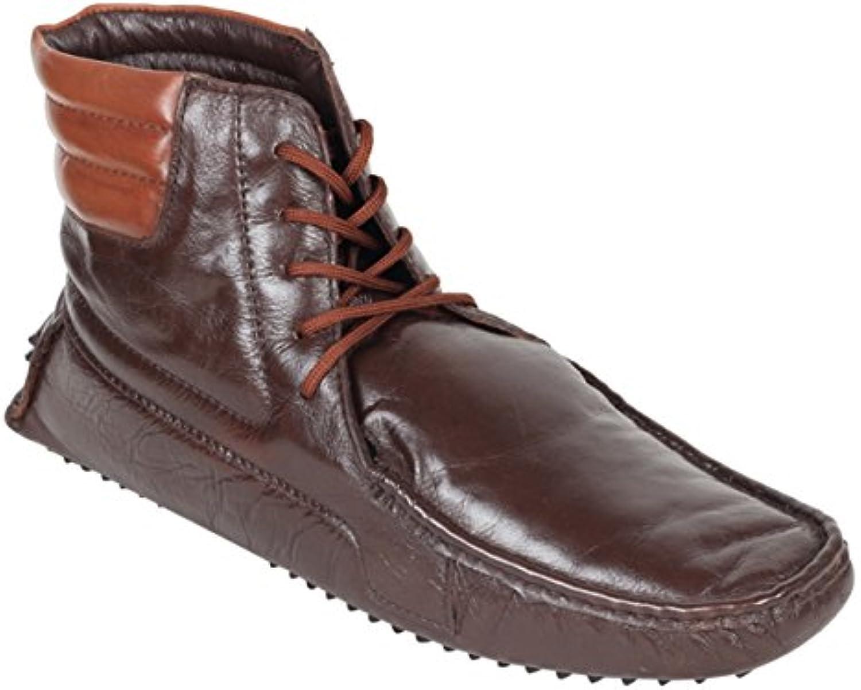 crocodile brand Men's Boot genuine Leather Biker short Tan Boots(uk Size 11) BT TAN 01