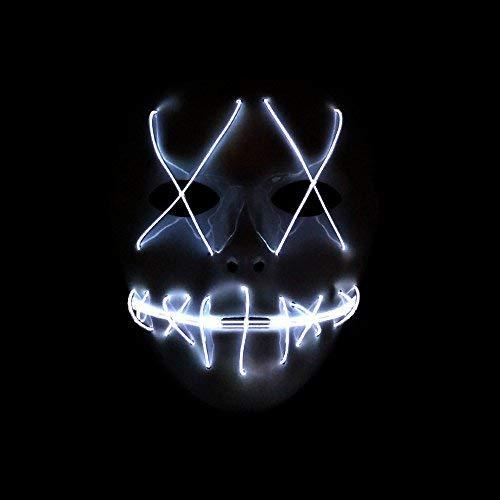 SUNREEK Halloween Scary Maske, Halloween Cosplay LED Kostüm Maske EL Draht Licht Maske für Halloween, Festival Parteien ()