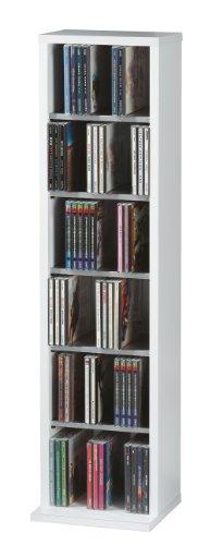VCM Morgenthaler Elementa - Estantería para almacenar 102 CDs (210 mm, 880 mm, 200 mm, Madera) , color blanco