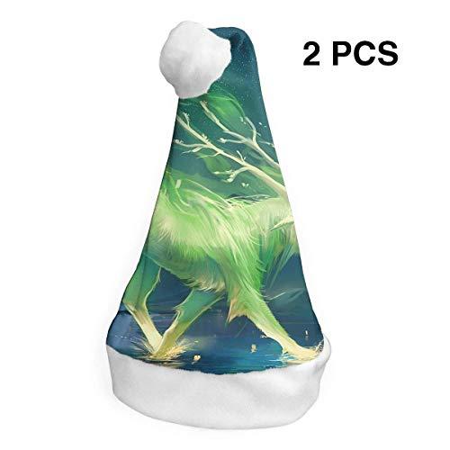 Weihnachtsmannmütze Rentier Fee Fantasy Merry Christmas Hüte Erwachsene Kinder Kostüm Weihnachten Deko Party Supplies ()