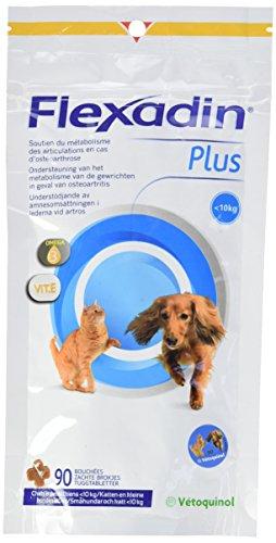 VETOQUINOL Flexadin Plus integratore Alimentare per Gatti/Cani di Meno di 10kg