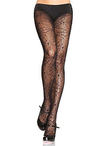 schwarz Spinnennetz Horror Strumpfhose Hexe Strümpfe Halloween Kostüm 8 10 12 14 16 - Schwarz, One Size fits - Halloween-kostüme 14-16