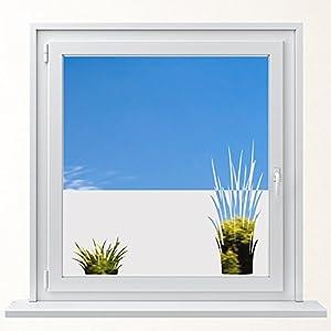 DD Dotzler Design 6416-3 individuelle Sichtschutzfolie Fensterfolie Milchglas 2 x Grasbüschel