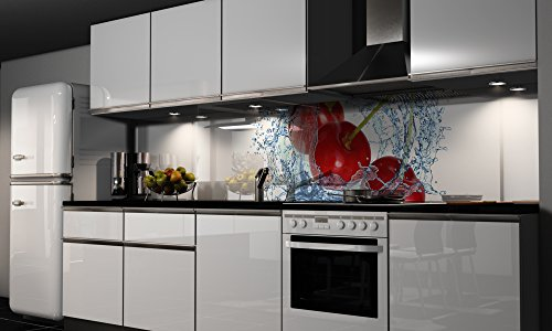 Küchenrückwand-Folie Cherry Klebefolie Spritzschutz Küche Fliesenspiegel Möbel Rückwand selbstklebend   mehrere Größen