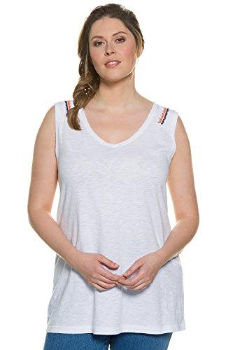 Ulla Popken Femme Grandes tailles Top 704978 Blanc