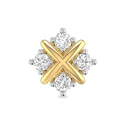 PC Jeweller The Kallen 18KT Yellow Gold and Diamond Nose Pin for Women