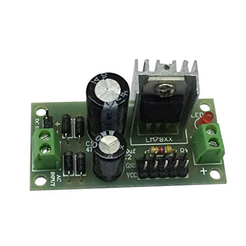 perfk Modulo Regolatore Tensione a Tre Terminali Scheda Raddrizzatore Ponte a Onda Intera 12V per Arduino