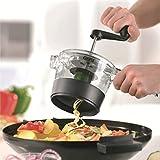 Suministros de cocina Cortador de múltiples funciones manual Cortador rotatorio de la rebanada Cortador de verduras con una máquina de corte rotativa multifunción, Accesorios de herramientas