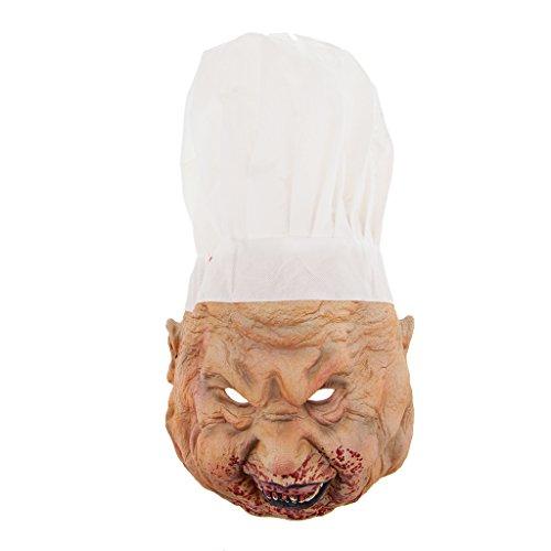 D DOLITY Horror Maske Latexmaske Zombiemaske Clown Hexe Makse Kostüm Accessoires Perfekt für Halloween Fasching Cosplay und Party auch als Foto Accessoires, Unisex - Metzger
