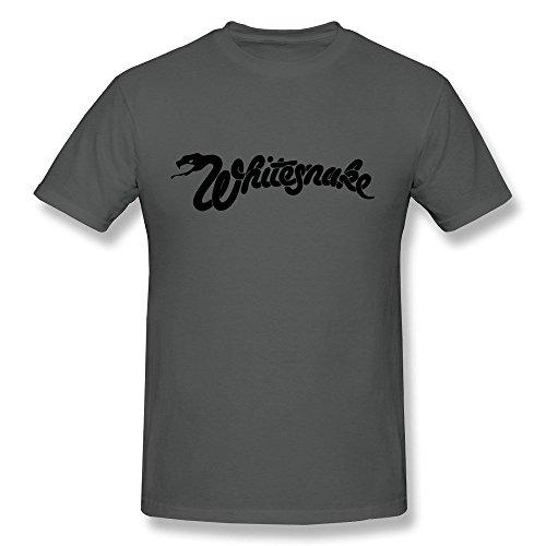 Hsuail Men's Whitesnake Logo T-Shirt (XX-Large)